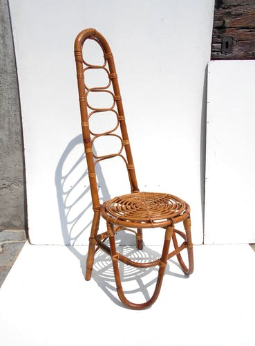 Lot de deux chaises de jardin en rotin par Vittorio Bonacina, années 1950