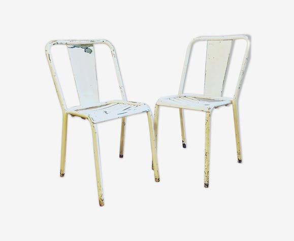 Pair of Tolix T4 bistro chair