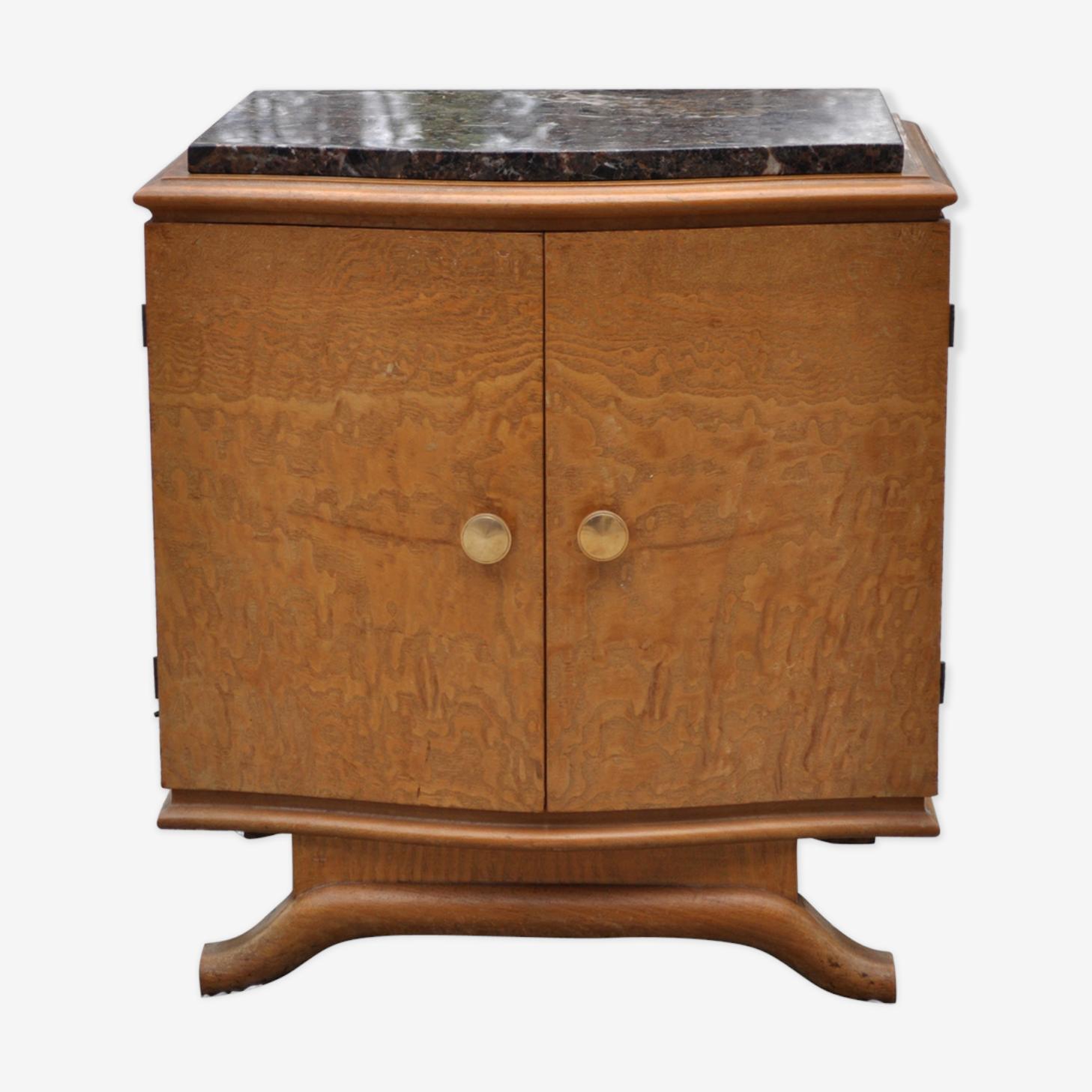 Vintage clear wood bedside table