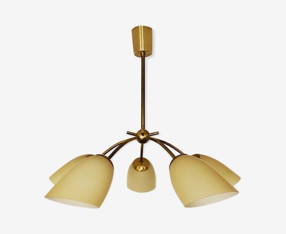 Mid Century Modern Brass Chandelier Brass Golden