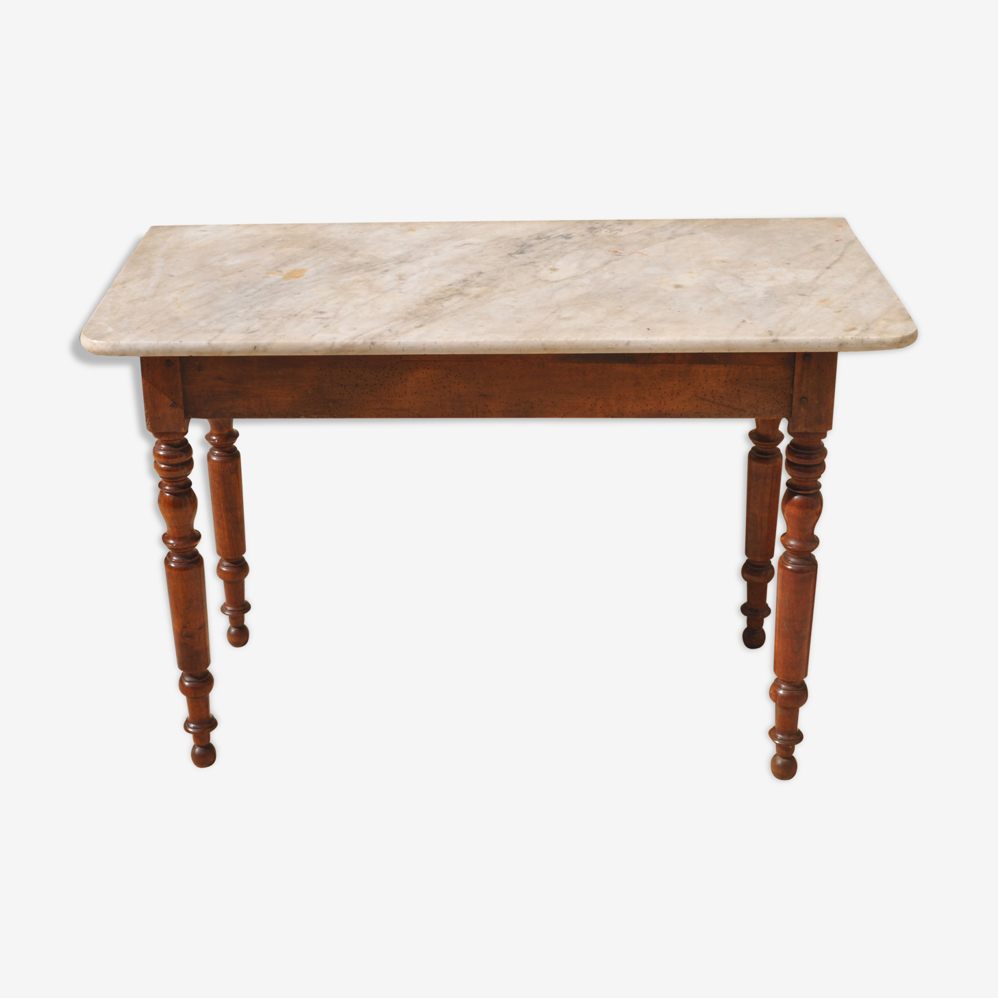 Table old white marble