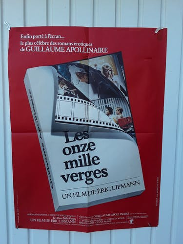 """Affiche 40x60 """"Les 11 milles verges adaptation roman d'Apollinaire"""" 1975 -40x60cm"""