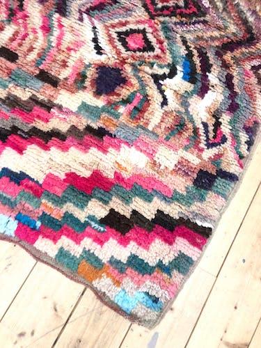 Moroccan Berber rug Boujaad 3,5x0.9m