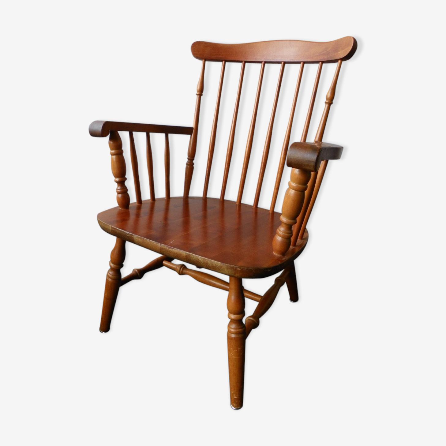 Swedish wooden armchair 70