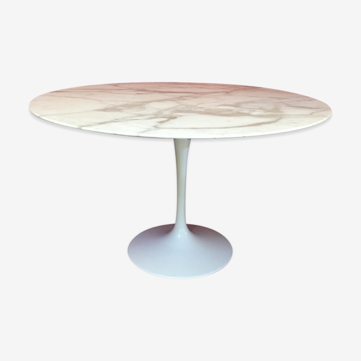 Table 120 cm de salle à manger tulip de Eero Sarinen pour Knoll 1956