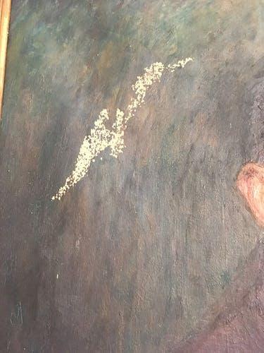 Portrait ancien huile début XX ième