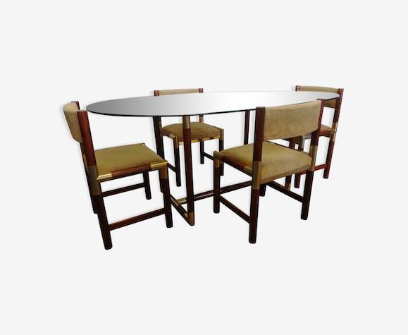 Et Verre Bobois Ensemble Chaises Vintage Roche Design En Table 4 rWxQoBedC