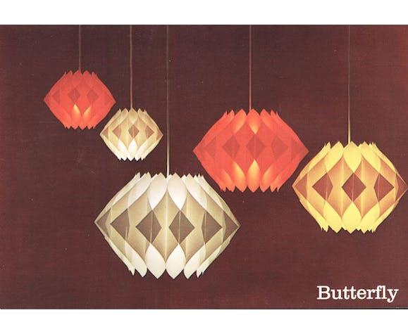 """Suspension en acrylique """"Butterfly"""" de Lars Shiler pour Hoyrup, années 1960"""