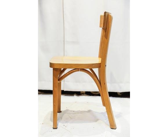 Lot de 4 chaises de bistrot bois blond