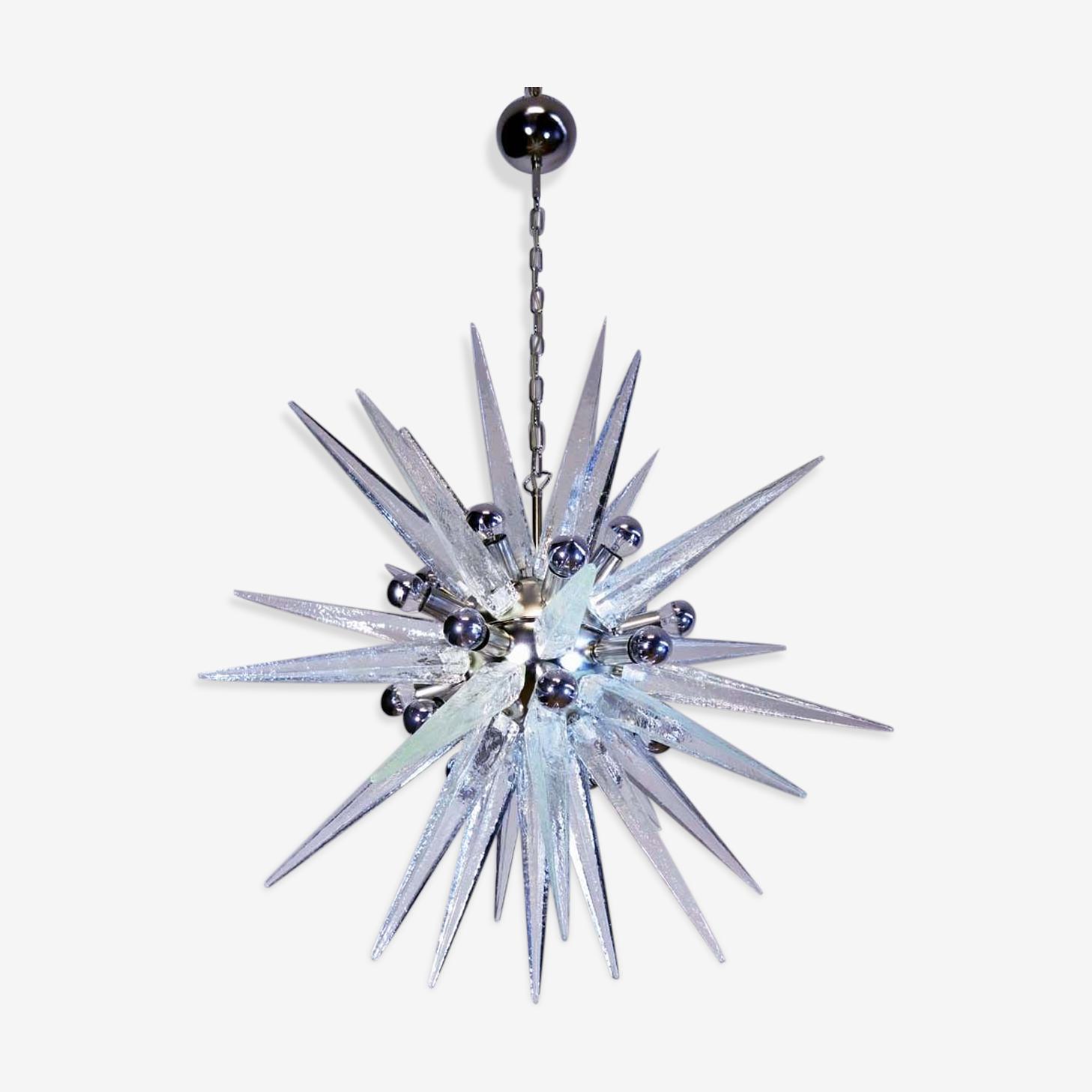 Italian chandelier Sputnik 20 lights in Murano glass 1970