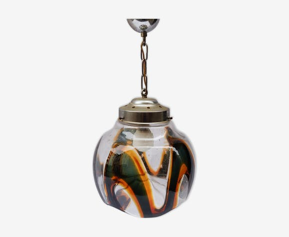Suspension lustre verre Murano 1970