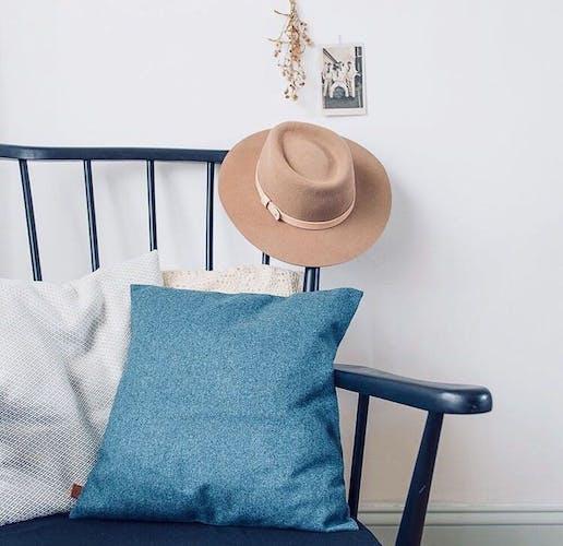 Baltic blue cushion