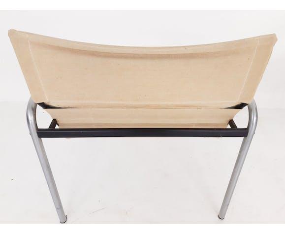 """Paire de fauteuils """"Ultrex"""" en toile et métal de Just Meijer pour Kembo, Pays-Bas, années 70"""