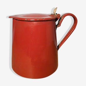 Basque red enamel coffeepot