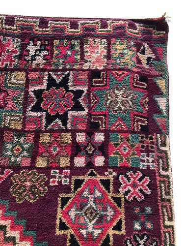Tapis berbère marocain ancien beni m'guild 267x185cm