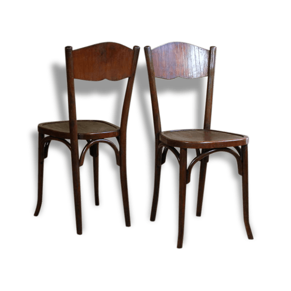 paire s plusieurs disponibles chaises bistrot baumann ann es 20 30 art d co bois mat riau. Black Bedroom Furniture Sets. Home Design Ideas
