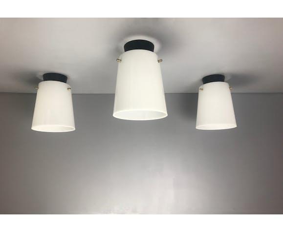 Three Italian ceiling lights, circa 1950