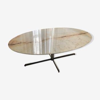 Table en marbre ovale Roche Bobois