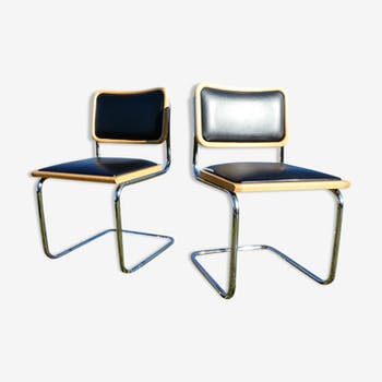 Lot of 2 Cesca B32 chairs by Marcel Breuer