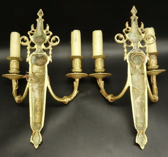 Pair of wall lamp, Napoleon III - 19th