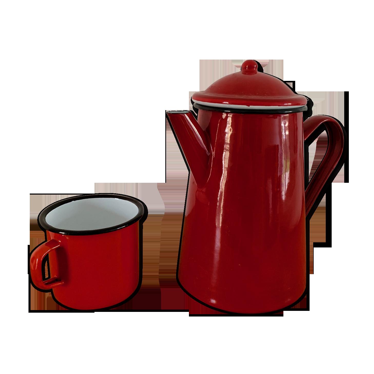 Ibili 910210 Cafeti/ère Conique en acier /émaill/é vitrifi/é Rouge 1 l