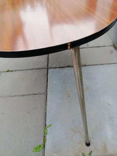 Table basse haricot en formica 60's