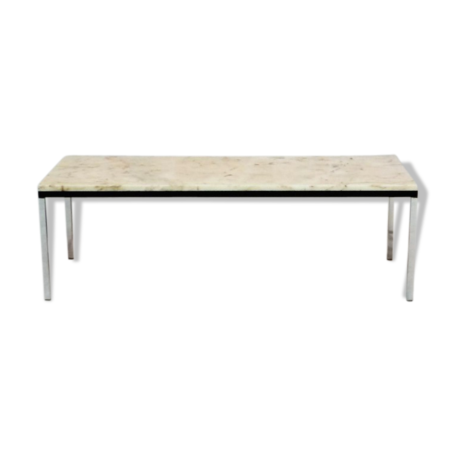 Table basse marbre knoll good table basse tulip de eero for Table knoll occasion