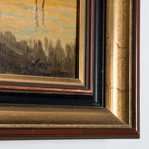 Huile sur toile XIXème