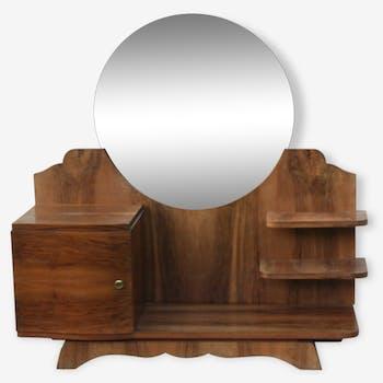 coiffeuse ou commode ancienne plaque de marbre bois mat riau marron art d co 39413. Black Bedroom Furniture Sets. Home Design Ideas