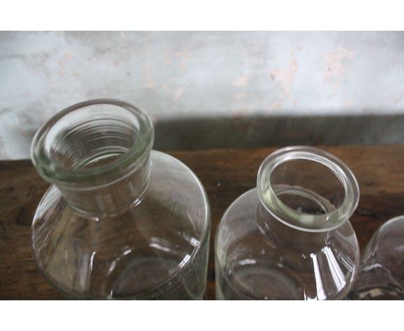 Lot of 4 lab bottles