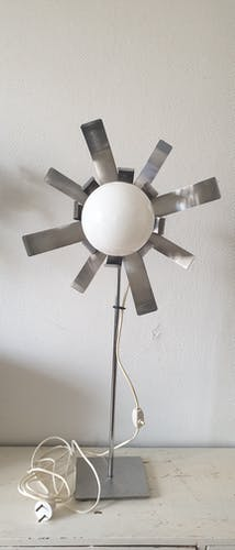Lampe vintage en métal chromé, Circa 1970