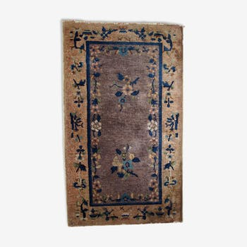 Former carpet Chinese Art deco done hand 67cm x 114cm 1920 s