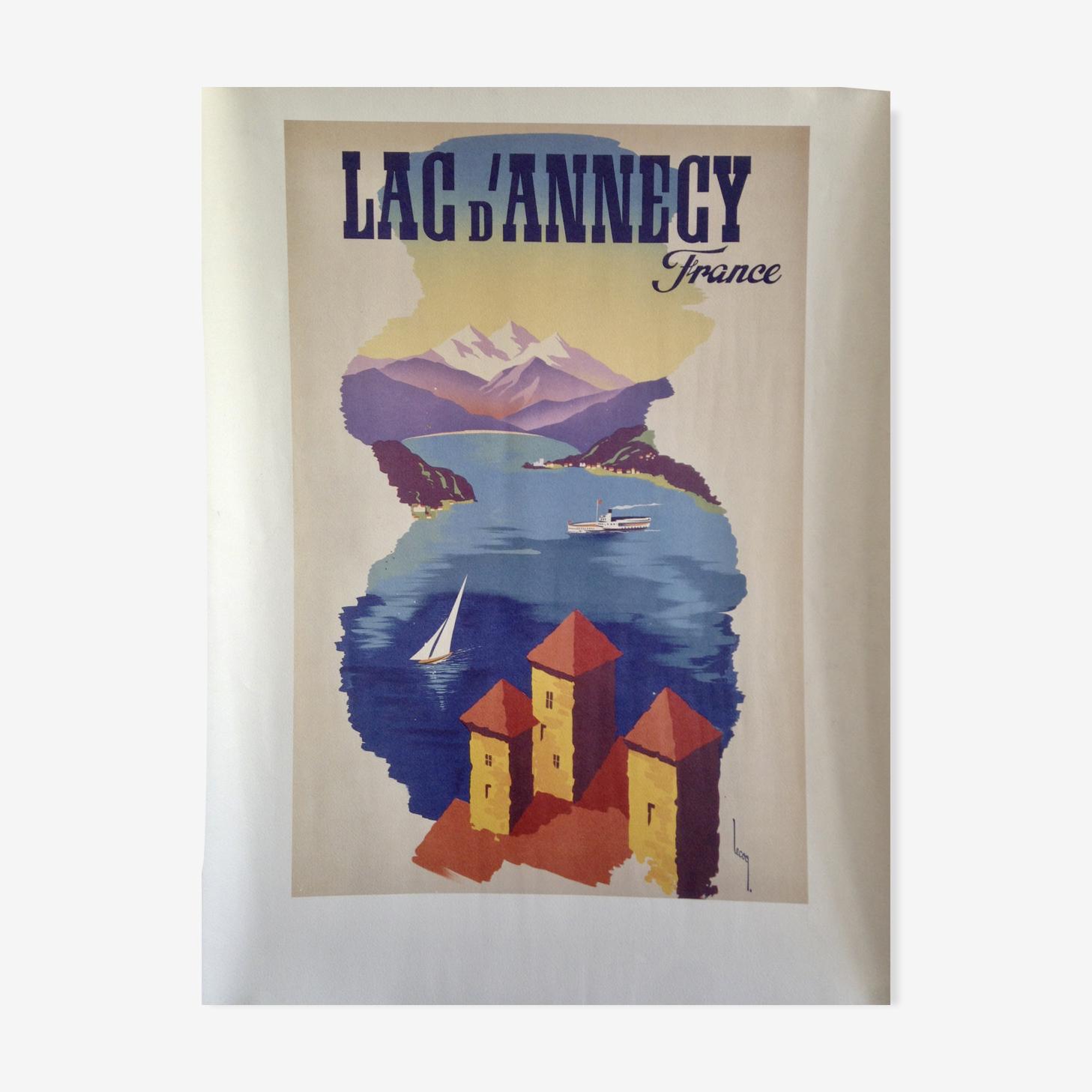 Affiche lac d'Annecy Lecoq
