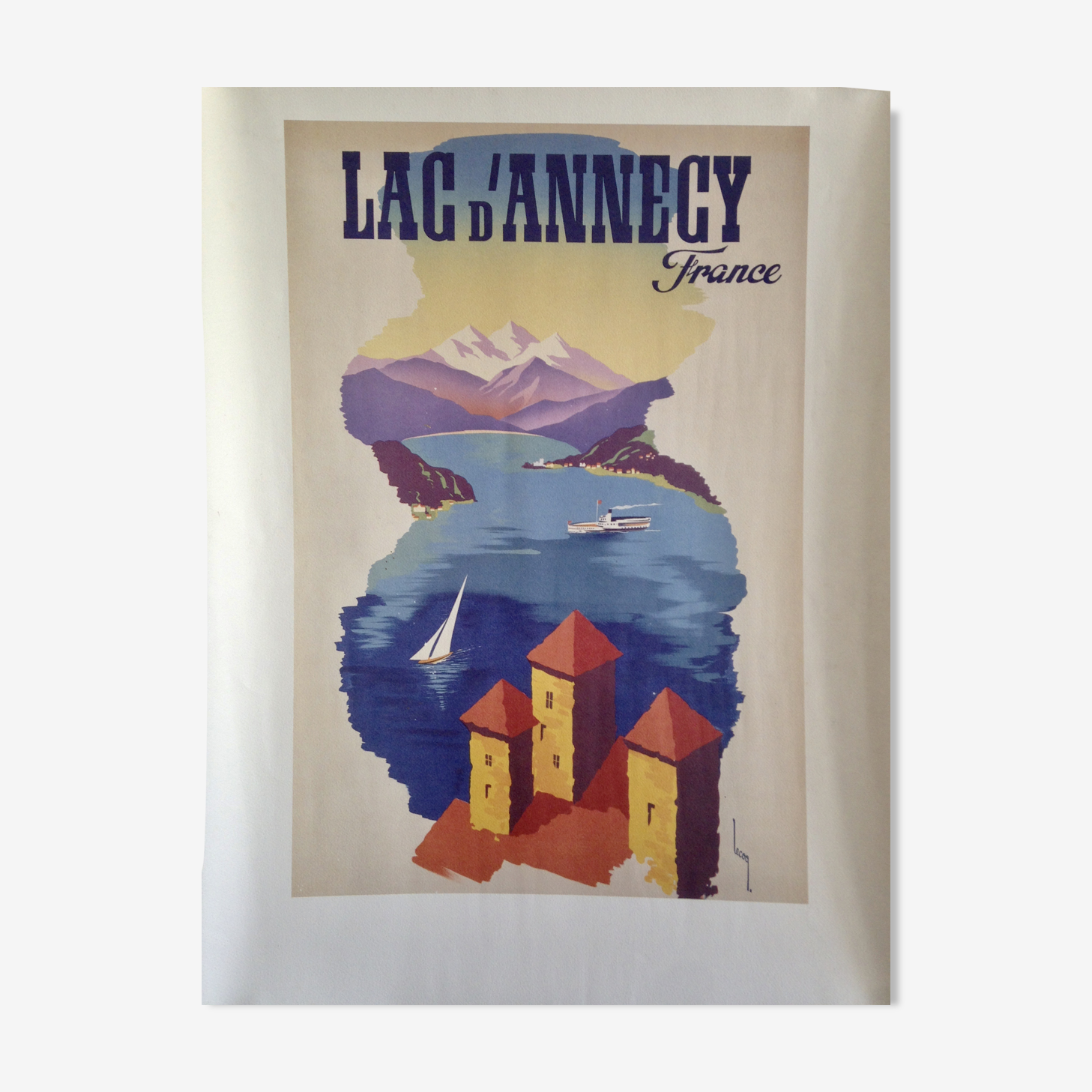 Lake of Annecy Lecoq poster