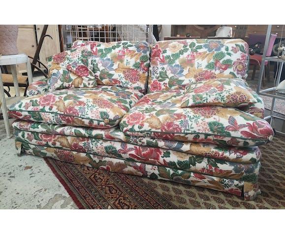Canapé fleuri ancien