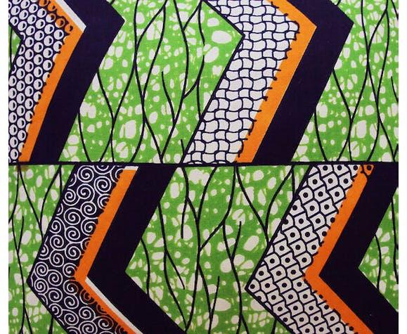 Coussin Zigzag en wax africain 50x50cm