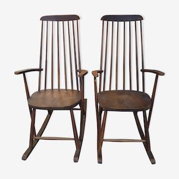 Pair of scandinavian rocking chair