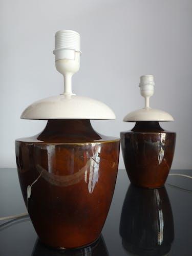 Paire de lampes en céramique 1970/80