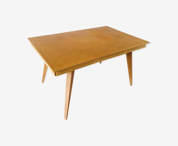 Table en chêne pieds compas