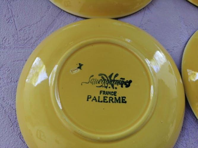 Soucoupes Sarreguemines France jaunes