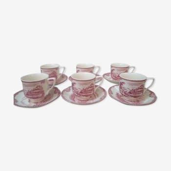 Tasses et sous tasses made in England