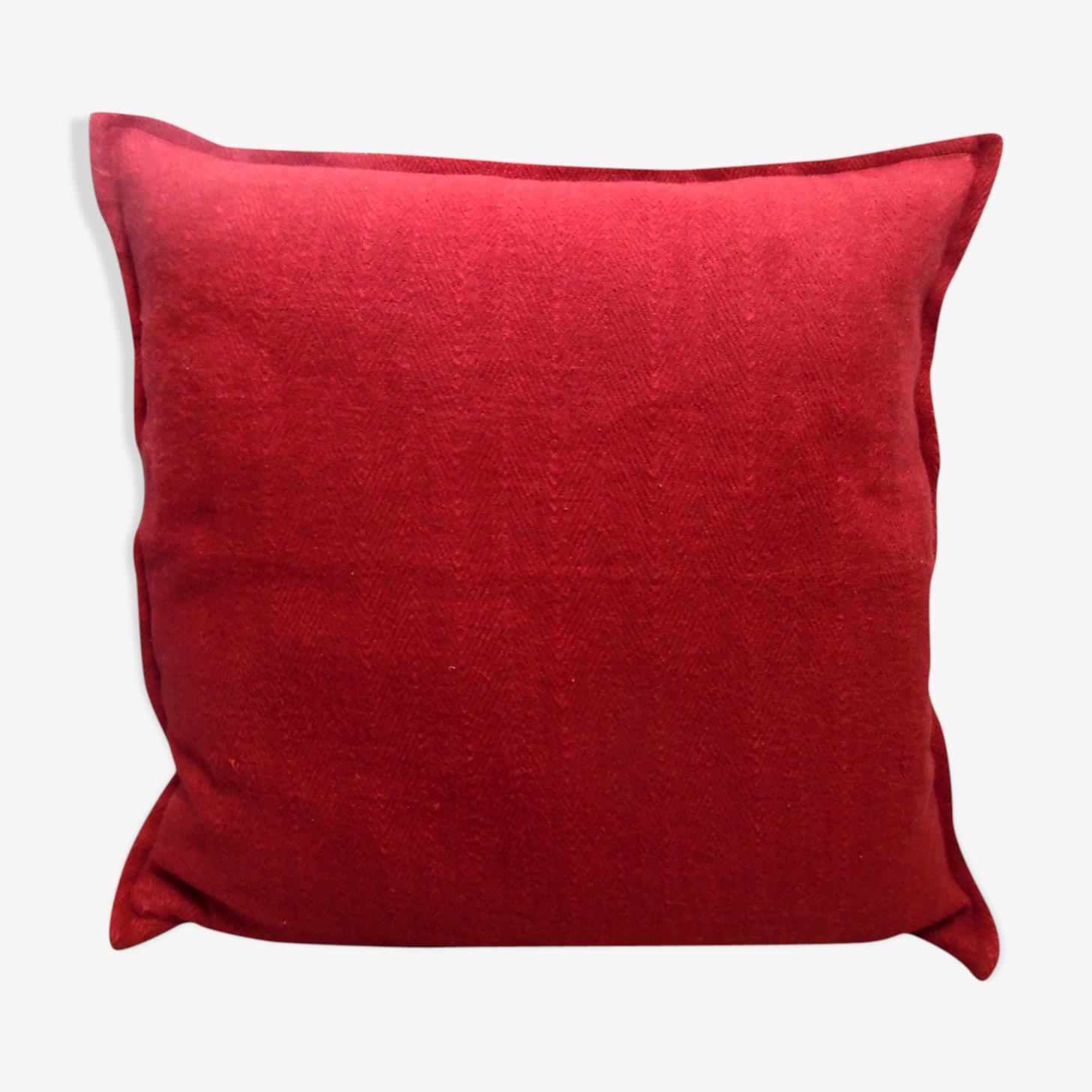Coussin en coton rouge