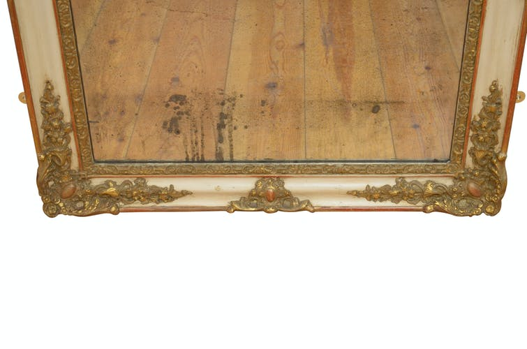 Miroir doré élégant du 19ème siècle