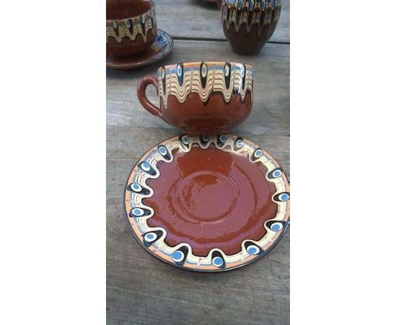 Service à café en grès émaillée 1970