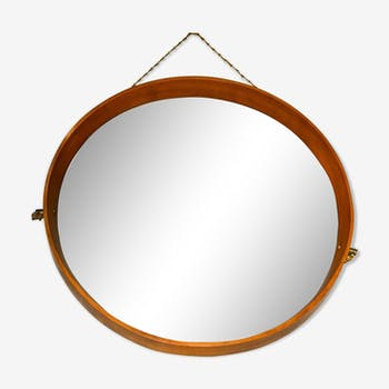 Miroirs scandinaves vintage d 39 occasion for Miroir circulaire