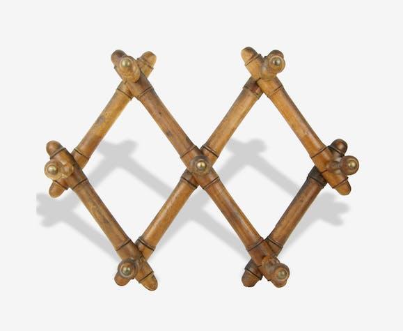 Porte-manteaux accordéon en bois / 7 patères