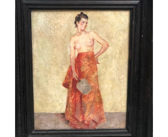 Jeune femme aux seins nus