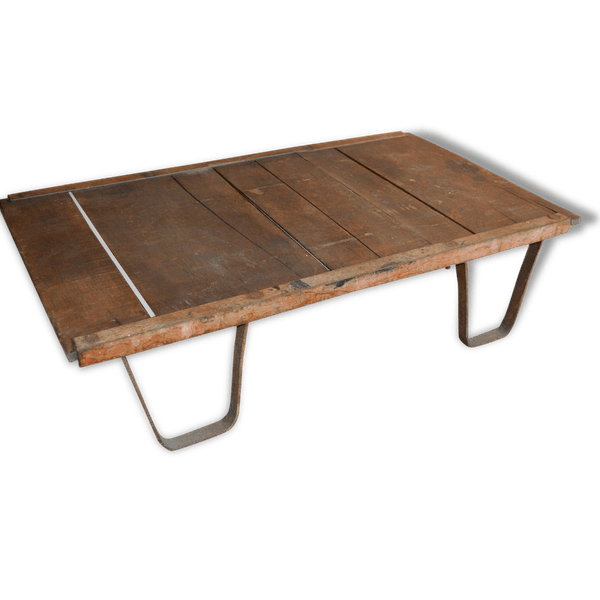 Palette Industrielle En Fer Et Bois Table De Salon Iron