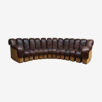 Vintage De Sede modular sofa DS-600 by Berger, Peduzzi, Vogt & Ulrich