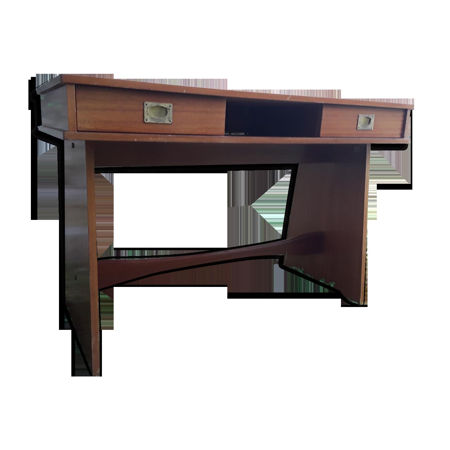 Bureau gautier bois matériau bois couleur vintage gokajo